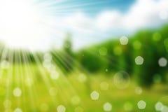 Naturfrühling bokeh Hintergrund Lizenzfreies Stockbild