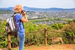 Naturfrauenphotograph Lizenzfreie Stockfotos