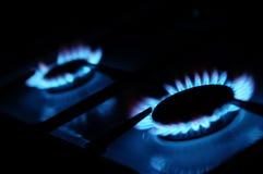 Naturgasflamma Royaltyfri Bild
