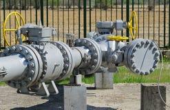 Naturgasrörledning Royaltyfria Foton