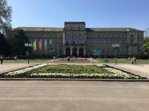 Naturgeschichtliches Museum in der Stadt von Karlsruhe stockbilder