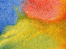 Naturhimmel-Sonne sunsetfresh des Aquarellkunsthintergrundes empfindliches buntes romantisch Stockbild