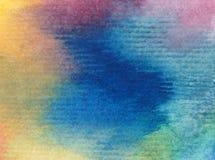 Naturhimmelsonnenaufgang-Regenbogens des Aquarellkunsthintergrundes frisches romantisches des empfindlichen bunten Stockfotos
