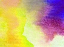 Naturhimmelsonnenaufgang-Regenbogens des Aquarellkunsthintergrundes frisches romantisches des empfindlichen bunten Lizenzfreie Stockbilder