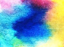 Naturhimmelsonnenaufgang-Regenbogens des Aquarellkunsthintergrundes frisches romantisches des empfindlichen bunten Stockbilder