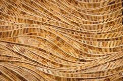 Naturhintergrund braunen Handwerksgewebebeschaffenheits-Bambus surfa Lizenzfreie Stockfotografie