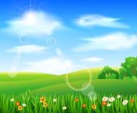 Naturhintergrund mit grünem Gras Lizenzfreie Stockfotografie