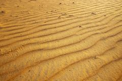 Naturhintergrund von Sanden der Wüstendünen Es wird in Marokko aufgestellt Das Sahara ist eine W?ste, die auf dem afrikanischen K stockfotografie