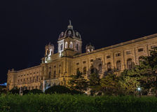 Naturhistorisches Museum in Vienna at Night Stock Photography