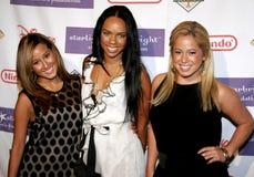 Naturi Naughton, Kiely Williams e Adrienne Bailon de The Cheetah Girls imagem de stock