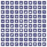 100 Naturikonen stellten Schmutzsaphir ein Lizenzfreie Stockbilder