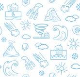 Naturkatastrofer och vädervillkor, sömlös vit och blåttbakgrund