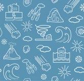 Naturkatastrophen und Wetterbedingungen, nahtloser grau-blauer Hintergrund vektor abbildung