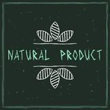 Naturkosmetikgestaltungselement lizenzfreie abbildung