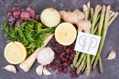 Naturkost für gesunde Nieren Enthaltene Vitamine nahrhaften Essens lizenzfreie stockbilder