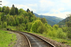 Naturlandschaft in den Bergen Lizenzfreies Stockfoto