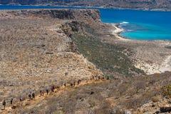 Naturlandschaft der Insel Imeri Gramvousa Lizenzfreie Stockfotos
