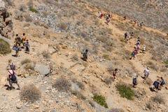 Naturlandschaft der Insel Imeri Gramvousa Lizenzfreies Stockbild