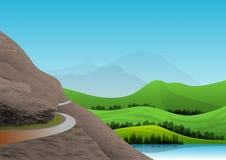Naturlandschaft mit Bergen und See von Ruhe und von Auffrischungswasser stockfoto
