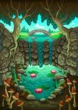 Naturlandschaft mit dem Teich