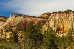 Naturlandschaft von Zion National Park, USA stockfotos