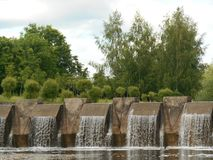 Naturlandschaftswasserfall Lizenzfreie Stockfotos