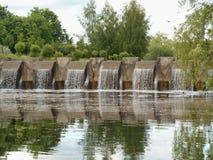 Naturlandschaftswasserfall Stockfoto