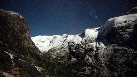 Naturlandskap av den Yosemite nationalparken, Kalifornien, USA royaltyfria foton