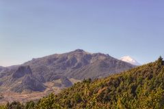 Naturlandskap, berg från xalapaen Mexiko Royaltyfria Bilder