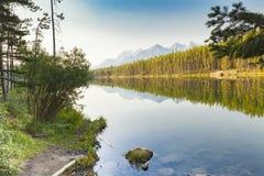 Naturlandskap brittiska columbia alberta västra Kanada Arkivbild