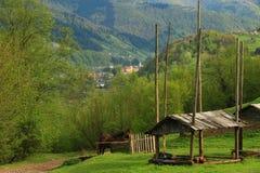 Naturlandskap i bergen Arkivfoton