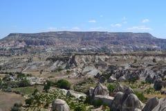 Naturlandskapet av den Cappadocia regionen Arkivfoto