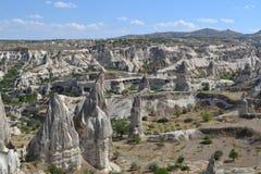 Naturlandskapet av den Cappadocia regionen Royaltyfria Bilder