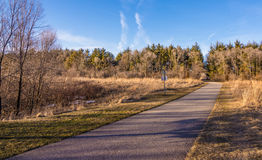 Naturlehrpfad in Cedar Falls, Iowa Stockbild