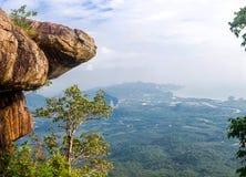 Naturlehrpfad an Krabi-Provinz, Thailand Panorama stockfotos