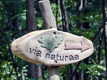 Naturlehrpfadindikator Lizenzfreies Stockbild