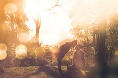 Naturlig bakgrund kopplar ihop vänner Sollöneförhöjningarna i morgonen Royaltyfri Fotografi