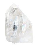 Naturlig bergkristall som isoleras på vit Fotografering för Bildbyråer