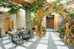 naturlig cafe Royaltyfri Fotografi