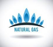 Naturlig design för gas royaltyfri illustrationer