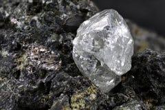 Naturlig diamant arkivfoton