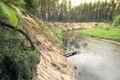 naturlig erosion Arkivfoto