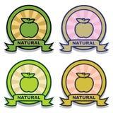 naturlig etikett Royaltyfria Bilder