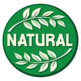 naturlig etikett Royaltyfri Bild