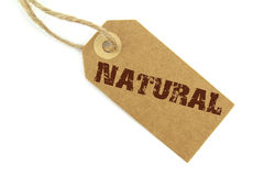 Naturlig etikett Arkivfoto