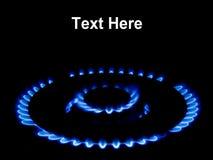 naturlig flammagas Royaltyfri Bild
