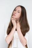 Naturlig flickaskönhet Arkivfoton