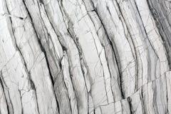 Naturlig grå färgmarmortextur Arkivbilder