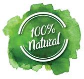 Naturlig grön logo: Design Eco för organisk mat Royaltyfri Bild