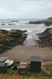 Naturlig hamn och Nordsjön Royaltyfria Bilder